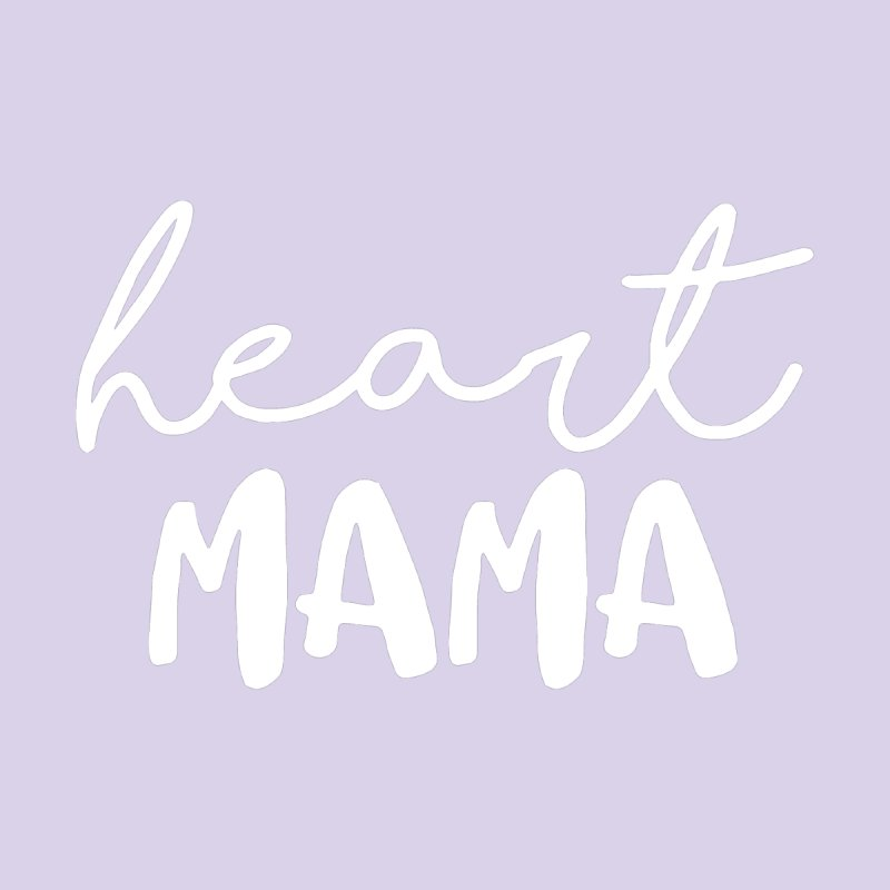 Heart Mama (white) Women's V-Neck by With Hope and Grace