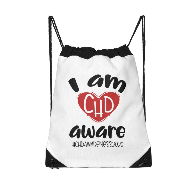 I am CHD Aware (Black) Accessories Bag by With Hope and Grace