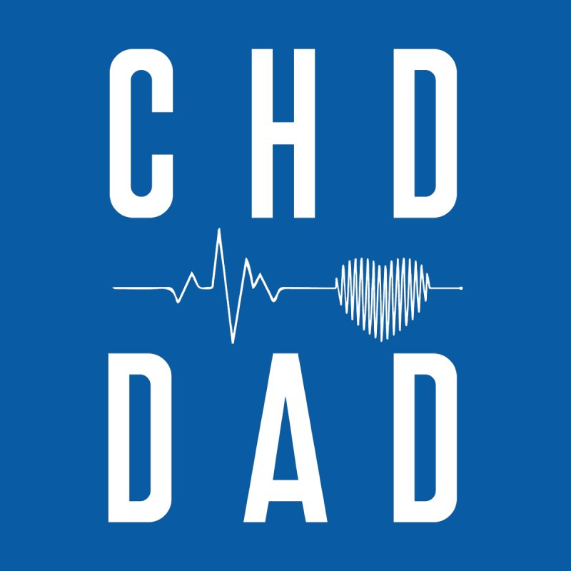 CHD Dad Heartbeat (white) Men's T-Shirt by With Hope and Grace