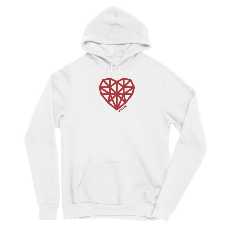 Geometric Heart Warrior Shirt Men's Pullover Hoody by With Hope and Grace