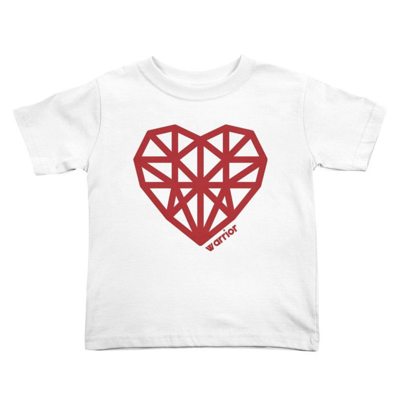 Geometric Heart Warrior Shirt Kids Toddler T-Shirt by With Hope and Grace