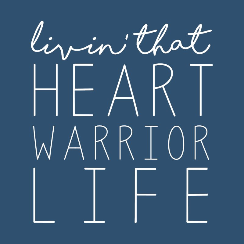 Livin'  That Heart Warrior Life (white) Men's Pullover Hoody by With Hope and Grace