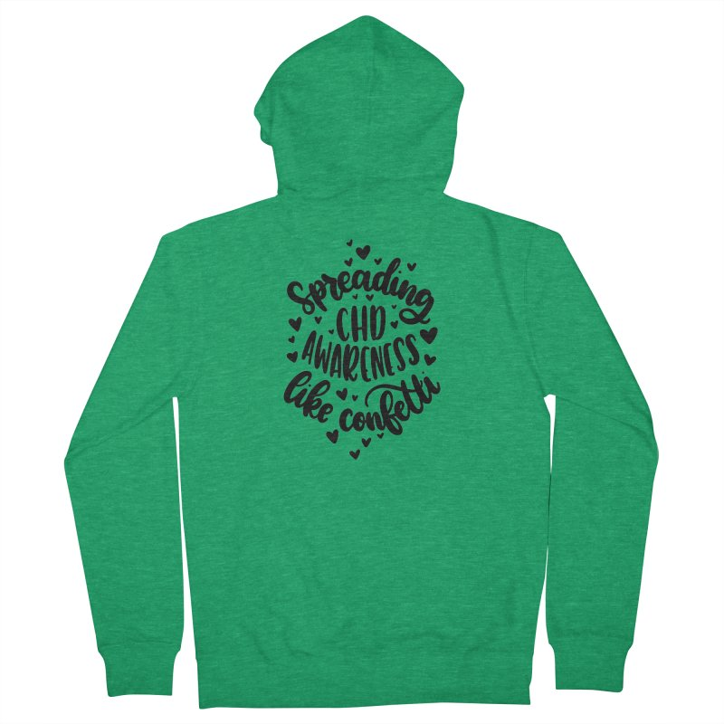 Spreading CHD Awareness Like Confetti Shirt (Black) Men's Zip-Up Hoody by With Hope and Grace