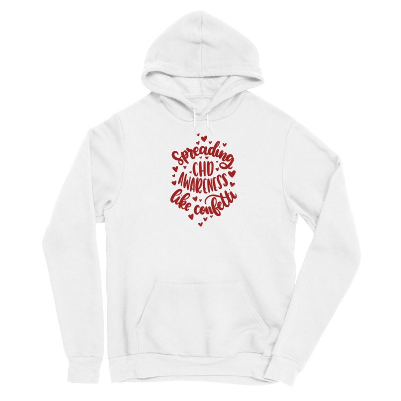 Spreading CHD Awareness Like Confetti Shirt (Red) Men's Pullover Hoody by With Hope and Grace