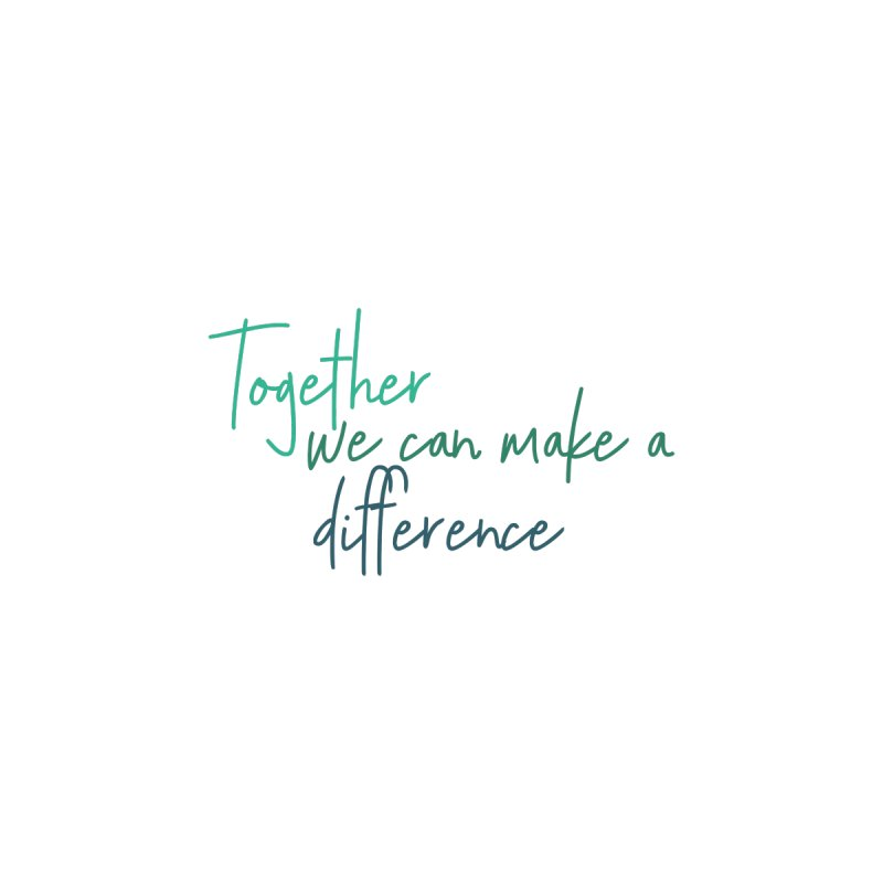 Together we can make a difference Accessories Face Mask by With Hope and Grace