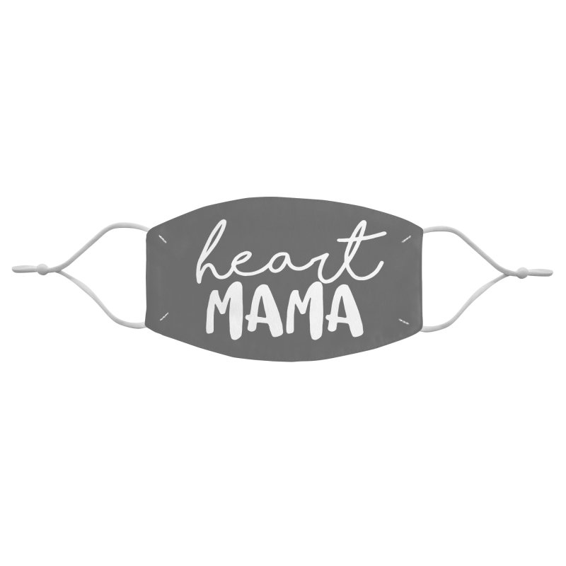 Heart Mama (white) Accessories Face Mask by With Hope and Grace