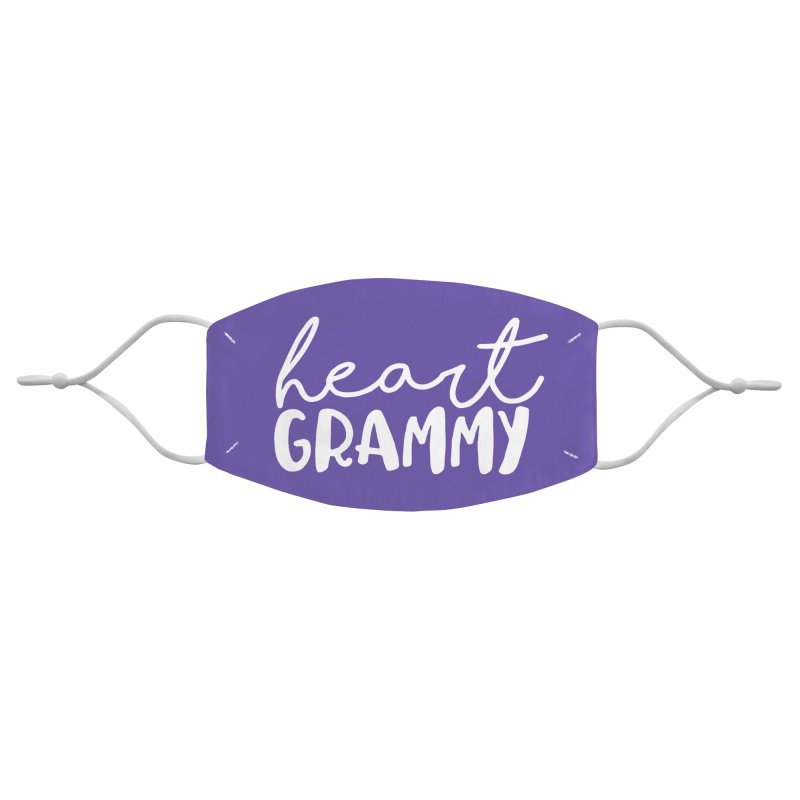 Heart Grammy (white) Accessories Face Mask by With Hope and Grace