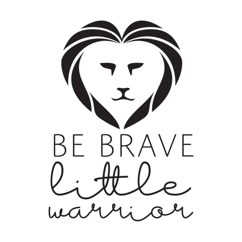 Be brave little warrior black Accessories Face Mask by With Hope and Grace