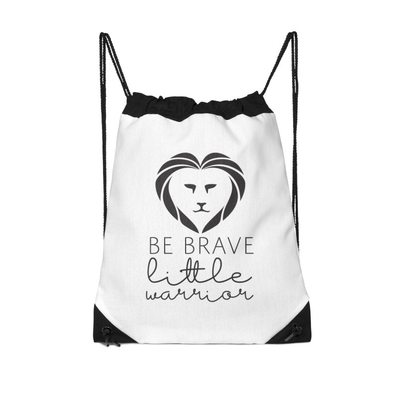 Be brave little warrior black Accessories Bag by With Hope and Grace