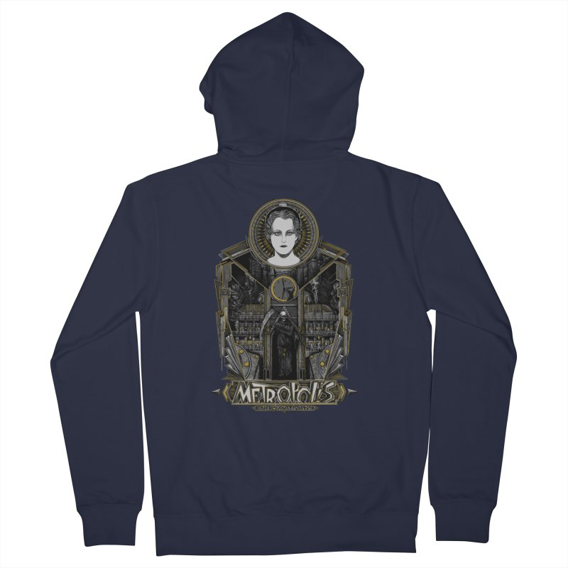 Metropolis Men's Zip-Up Hoody by Wiwitaek's Artist Shop