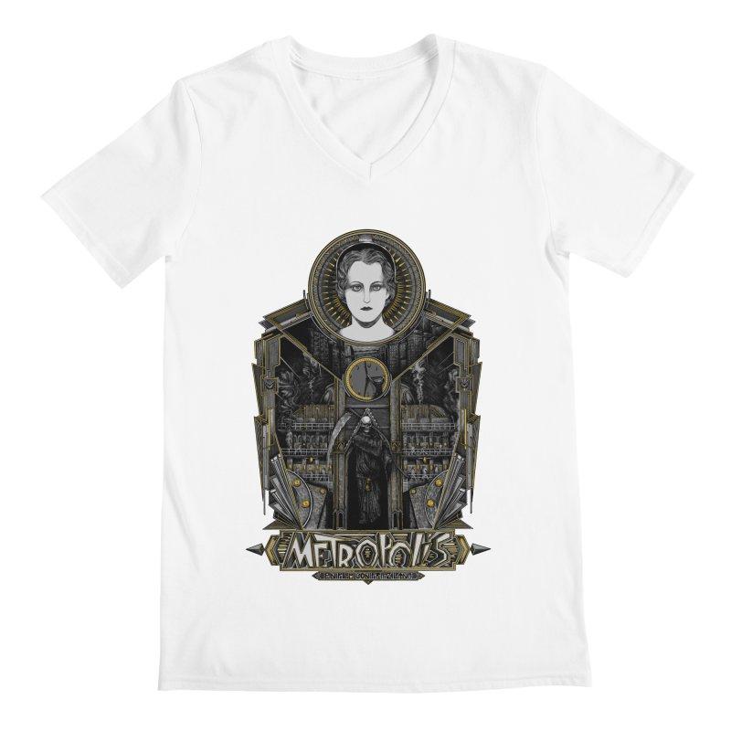 Metropolis Men's V-Neck by Wiwitaek's Artist Shop
