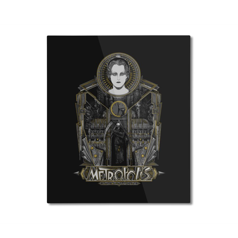 Metropolis Home Mounted Aluminum Print by Wiwitaek's Artist Shop