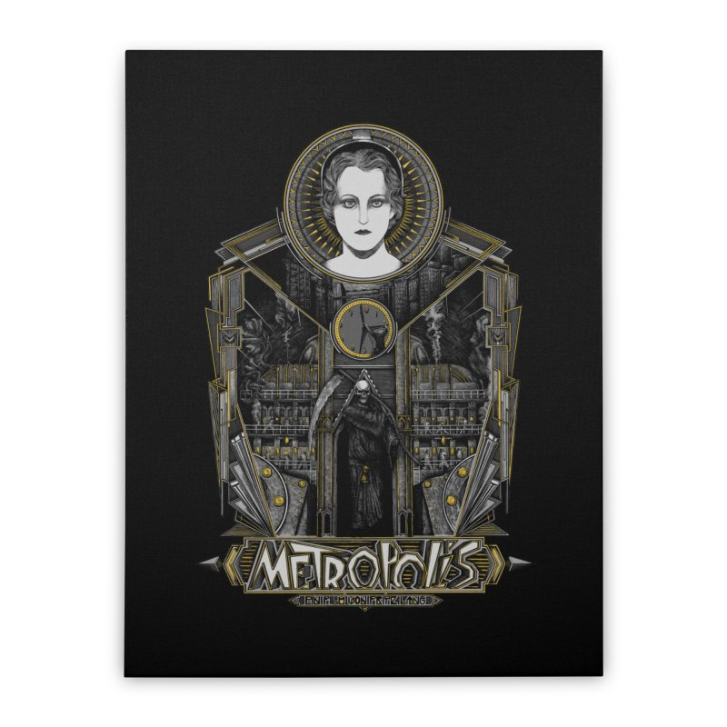 Metropolis Home Stretched Canvas by Wiwitaek's Artist Shop
