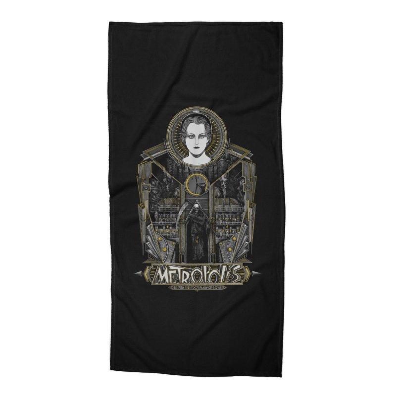 Metropolis Accessories Beach Towel by Wiwitaek's Artist Shop
