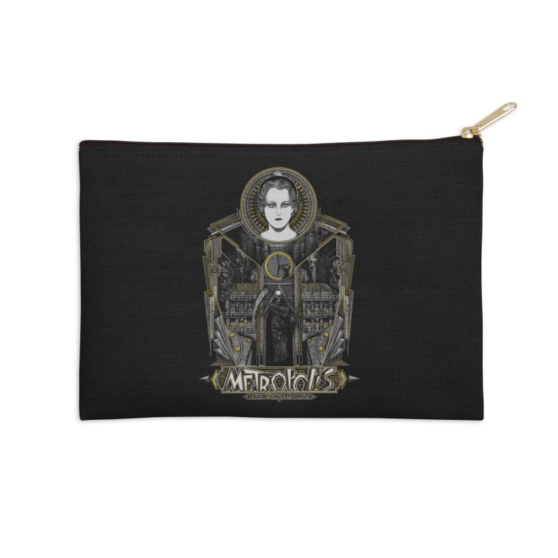 Metropolis Accessories Zip Pouch by Wiwitaek's Artist Shop