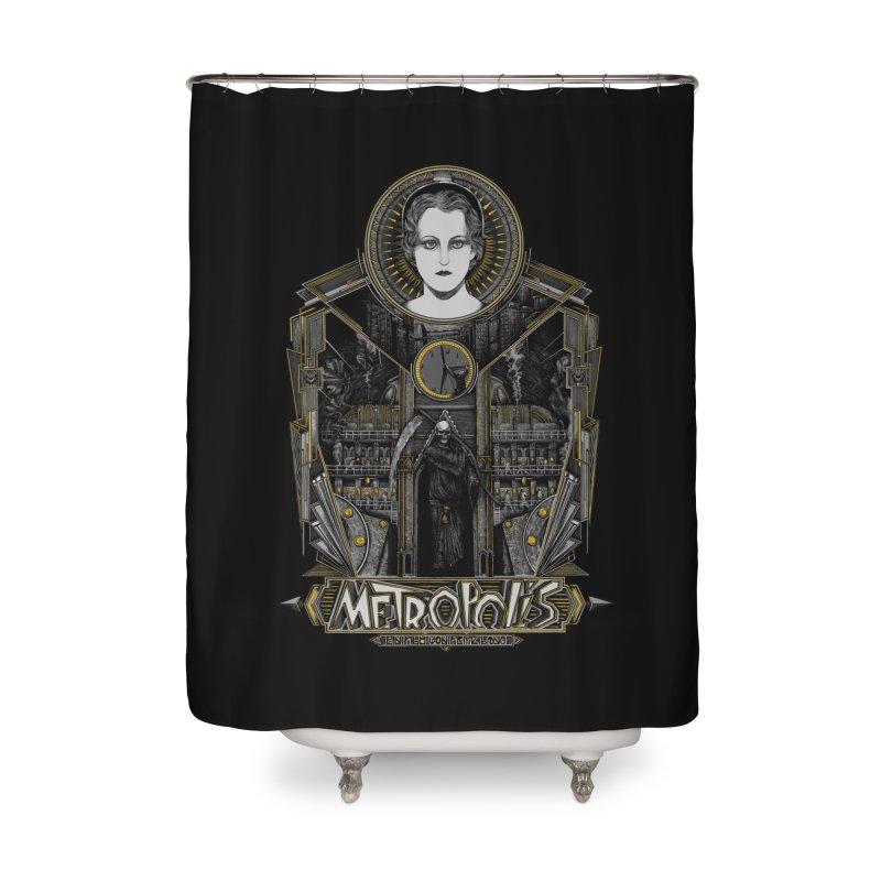 Metropolis Home Shower Curtain by Wiwitaek's Artist Shop