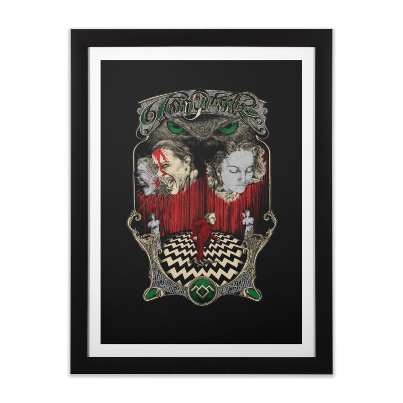 Twin Peaks Home Framed Fine Art Print by Wiwitaek's Artist Shop