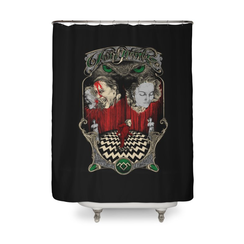 Twin Peaks Home Shower Curtain by Wiwitaek's Artist Shop