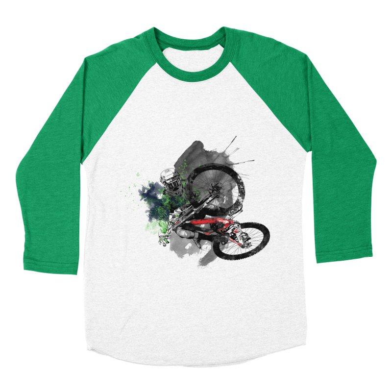 Over The Edge Men's Baseball Triblend T-Shirt by Wiwitaek's Artist Shop