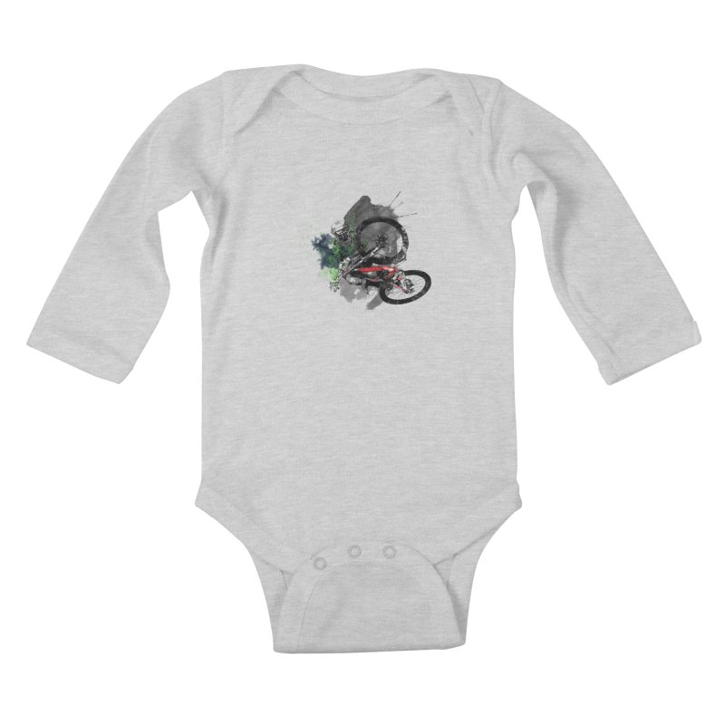 Over The Edge Kids Baby Longsleeve Bodysuit by Wiwitaek's Artist Shop