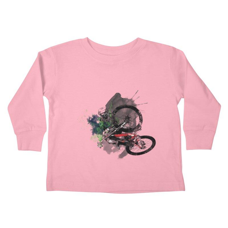 Over The Edge Kids Toddler Longsleeve T-Shirt by Wiwitaek's Artist Shop