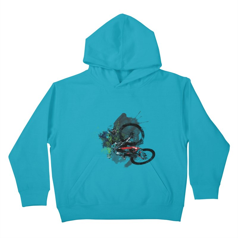 Over The Edge Kids Pullover Hoody by Wiwitaek's Artist Shop