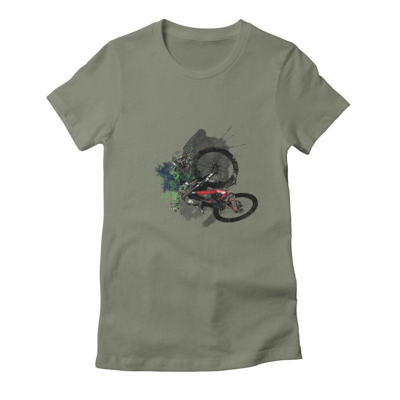 Over The Edge Women's Fitted T-Shirt by Wiwitaek's Artist Shop