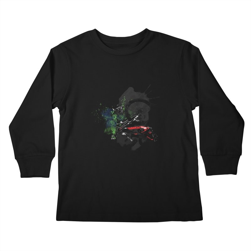Over The Edge Kids Longsleeve T-Shirt by Wiwitaek's Artist Shop