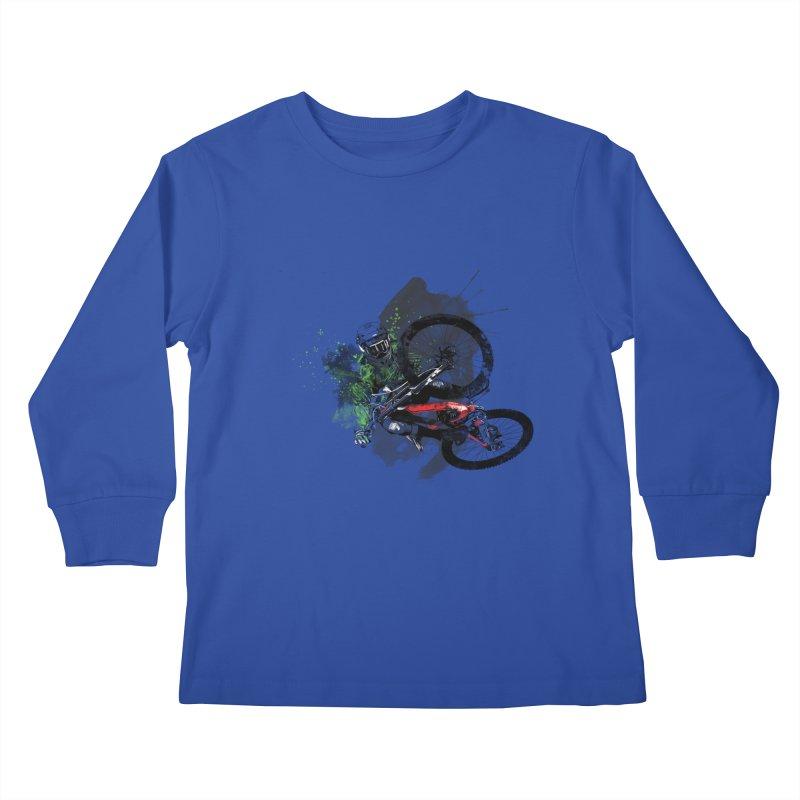 Over The Edge Kids Longsleeve T-Shirt by Wiwitaek's Artist Shop