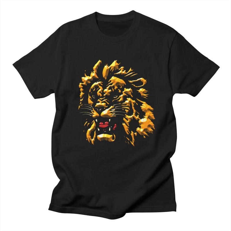 Fierce and Furious in Men's Regular T-Shirt Black by WizardDesign's Artist Shop