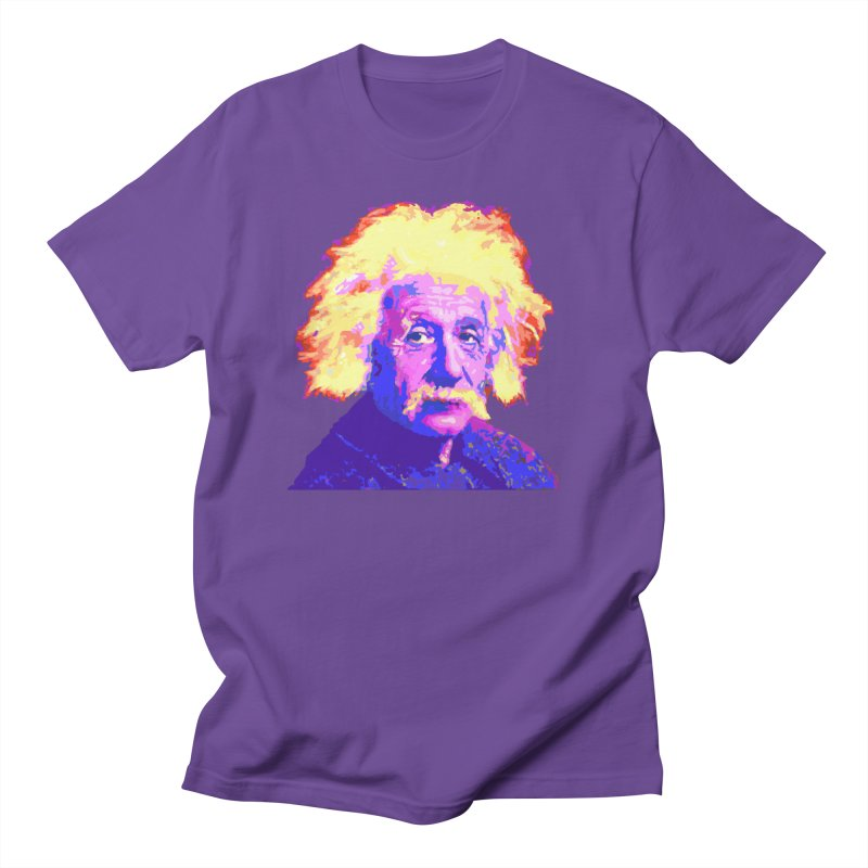 Psychedelic Einstein in Men's Regular T-Shirt Purple by WizardDesign's Artist Shop