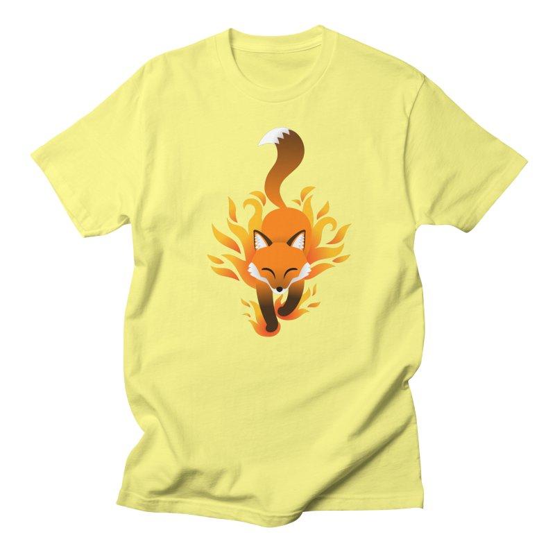 Fire Fox Men's T-Shirt by Designs by WoollyRex