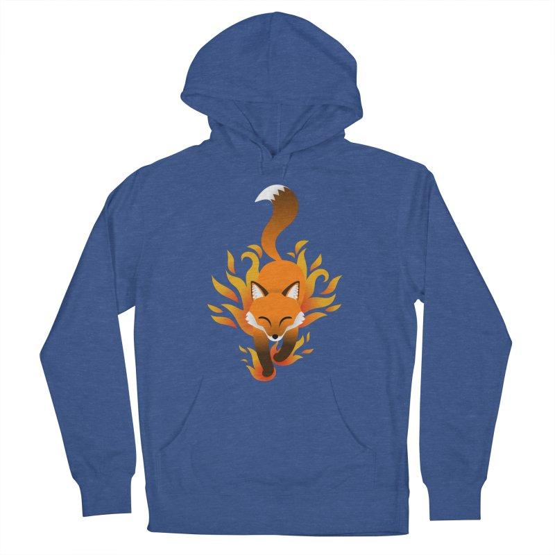 Fire Fox Men's Pullover Hoody by Designs by WoollyRex