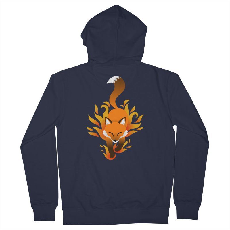 Fire Fox Men's Zip-Up Hoody by Designs by WoollyRex