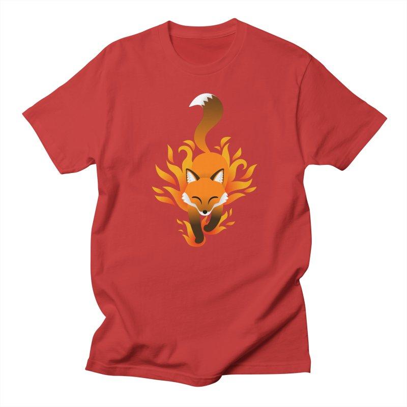 Fire Fox Men's Regular T-Shirt by Designs by WoollyRex