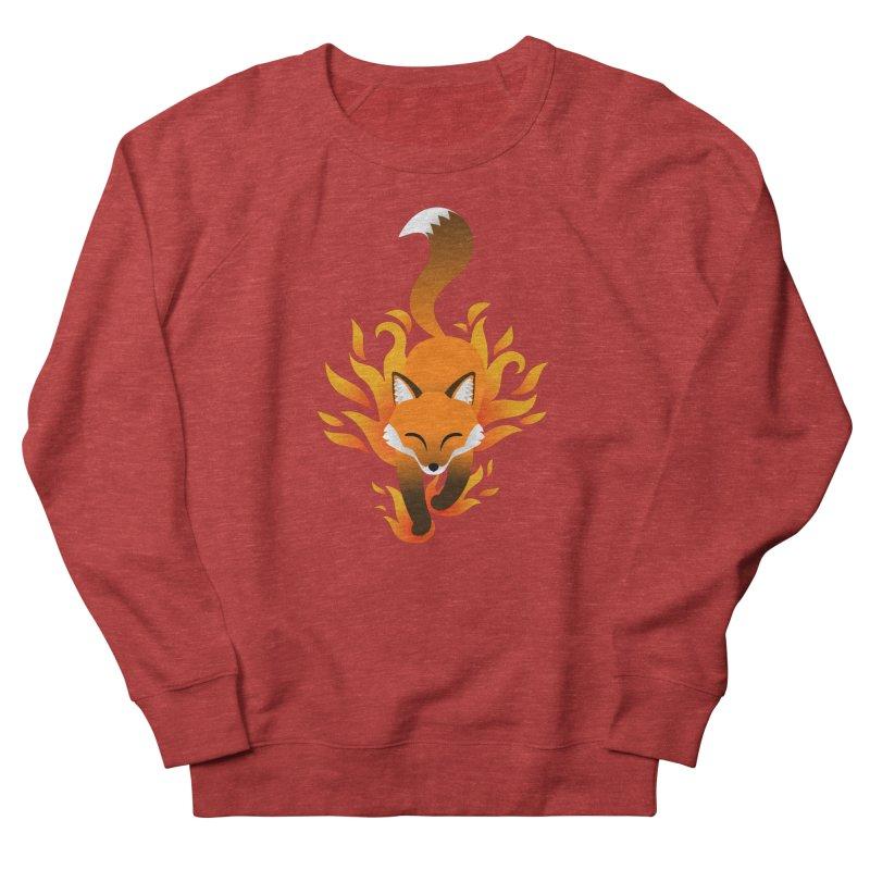 Fire Fox Women's French Terry Sweatshirt by Designs by WoollyRex