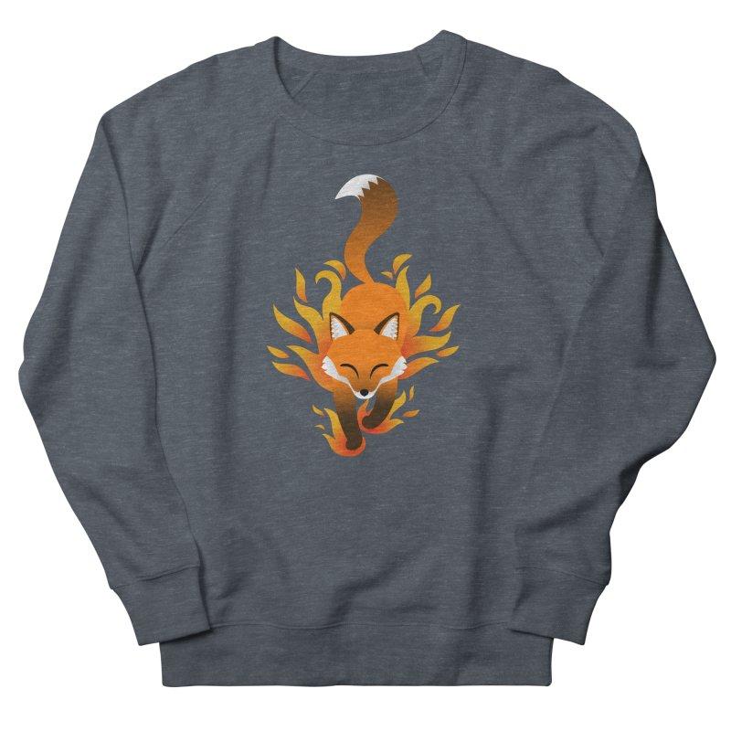 Fire Fox Men's Sweatshirt by Designs by WoollyRex