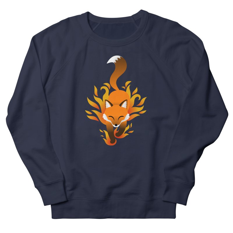 Fire Fox Men's French Terry Sweatshirt by Designs by WoollyRex