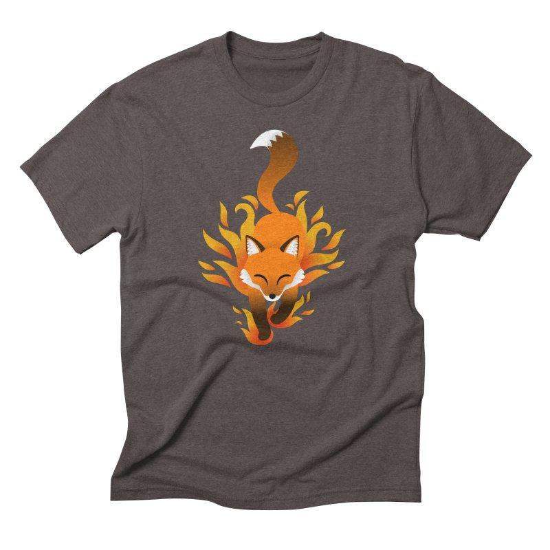 Fire Fox Men's Triblend T-Shirt by Designs by WoollyRex