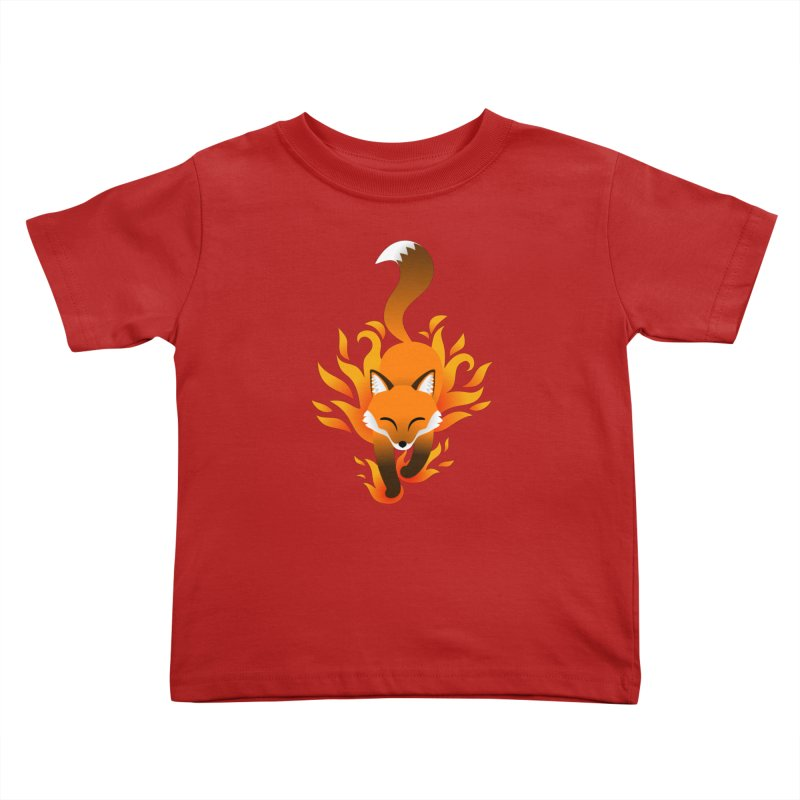 Fire Fox Kids Toddler T-Shirt by Designs by WoollyRex