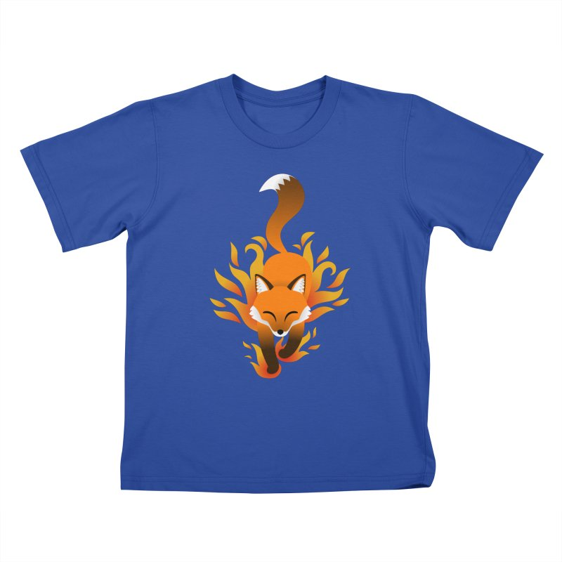 Fire Fox Kids T-Shirt by Designs by WoollyRex
