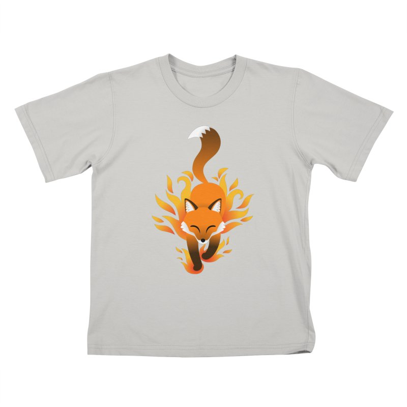 Fire Fox Kids T-shirt by Designs by WoollyRex