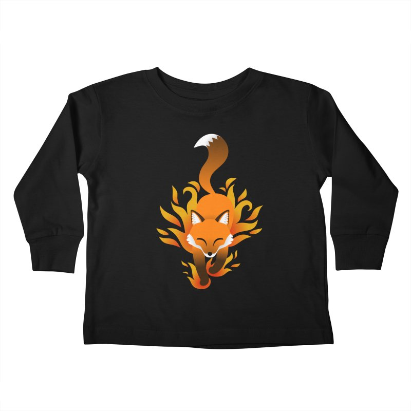 Fire Fox Kids Toddler Longsleeve T-Shirt by Designs by WoollyRex