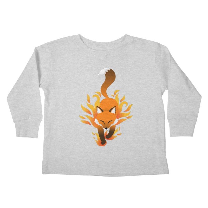 Fire Fox Kids Toddler Longsleeve T-Shirt by Designs by WoollyRex
