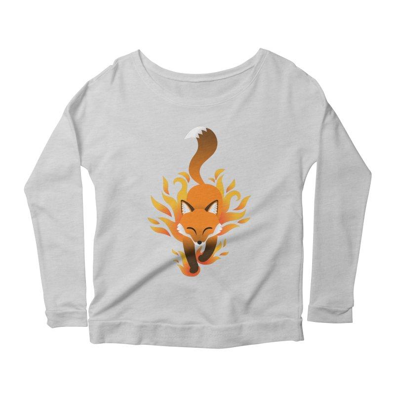 Fire Fox Women's Scoop Neck Longsleeve T-Shirt by Designs by WoollyRex