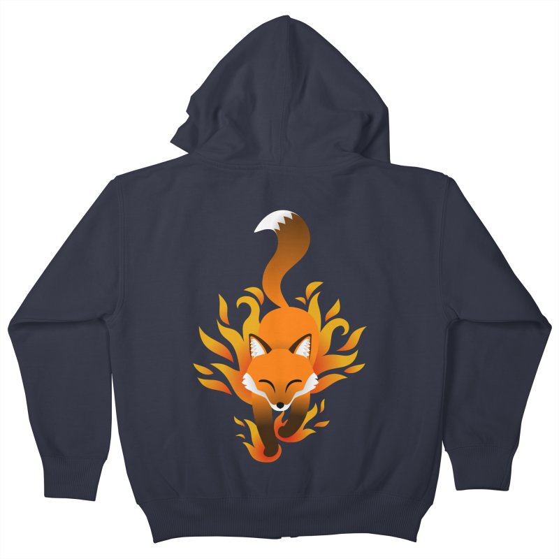 Fire Fox Kids Zip-Up Hoody by Designs by WoollyRex
