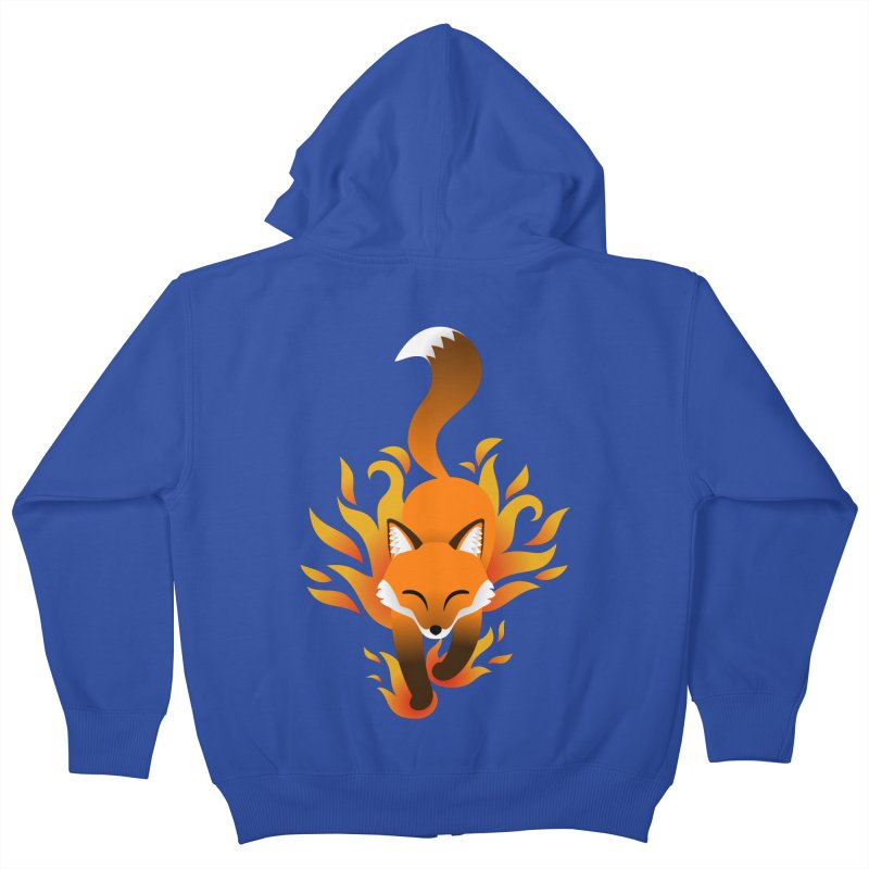 Fire Fox Kids Zip-Up Hoody by Designs by WoollyRex