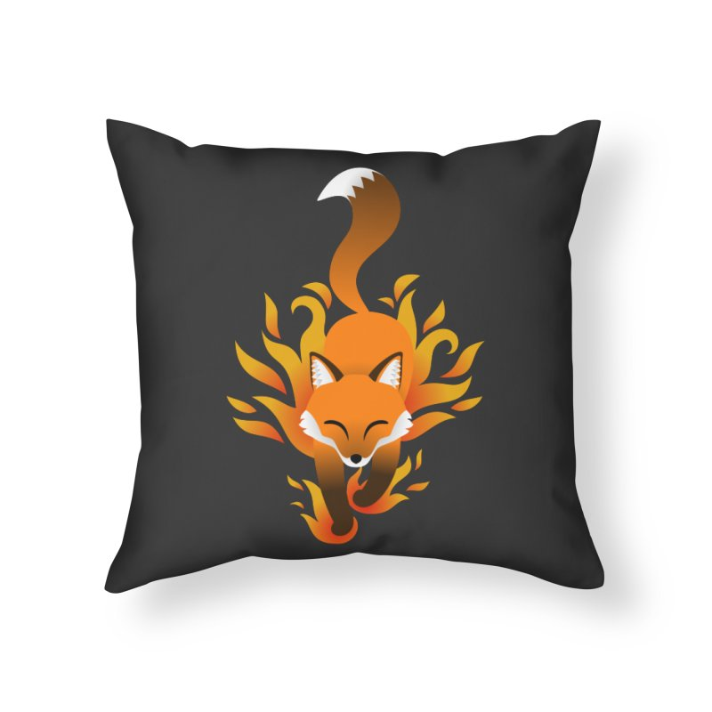 Fire Fox Home Throw Pillow by Designs by WoollyRex