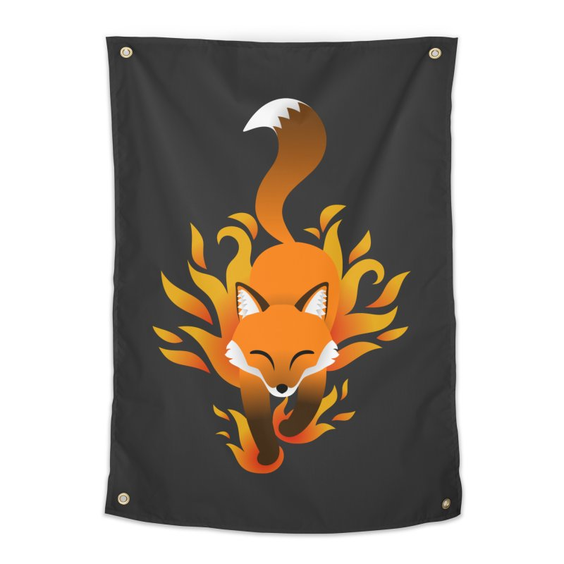 Fire Fox Home Tapestry by Designs by WoollyRex