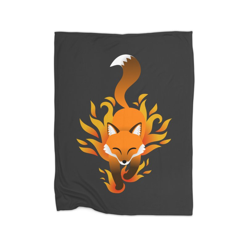 Fire Fox Home Fleece Blanket Blanket by Designs by WoollyRex